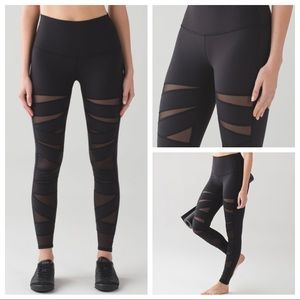 Lululemon Wunder Under Pant - Hi-Rise - Tech Mesh